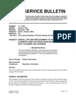 Service Bulletin Air Filters Solar Turbines