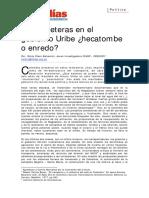 Carreteras en el gobierno Uribe. Hecatombe o enredo