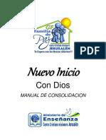 Nuevo Inicio. Con Dios MANUAL DE CONSOLIDACION