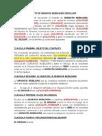 CONTRATO DE GARANTIA MOBILIARIA VEHICULAR
