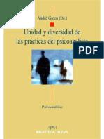 Unidad y diversidad de las prácticas del psicoanalista.pdf