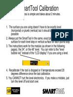 smarttool level calibration instructions