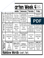 week 4 lesson plan