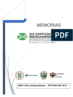 MEMORIAS XIX SIMPOSIO  IBEROAMERICANO  DE CONSERVACION