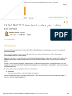 C# BAD PRACTICES_ Learn how to make a good code by bad example - CodeProject.pdf