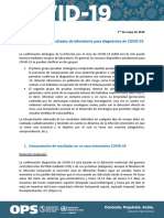 COVID 19,  Interpretacion de Resultados de Laboratorio