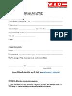 Datenblatt für Aufsichtstätigkeiten (Bruckner Uni)
