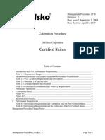 CALIBRATION DEFELSKO CERTIFIED SHIMS