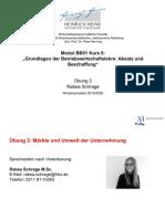 2 Sitzung_Uebung_Maerkte und Umwelt der Unternehmung_WS1920