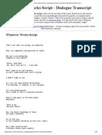 Whatever Works Script (Woody Allen movie)