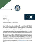 4-20-20 Letter to Mayor de Blasio Re
