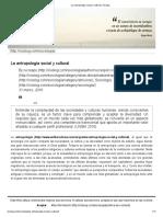 La antropología social y cultural _ Cisolog
