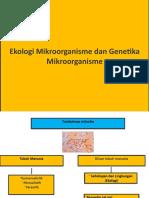 Ekologi Mikroorganisme dan Genetika Mikroorganisme