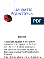 18 QUADRATIC EQUATIONS