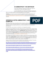 SIGNIFICADO DE ADMINISTRAR Y DE GESTIONAR