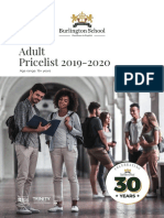 BurlingtonSchool Adults PriceList 2019 20 Web