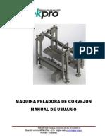 manual peladora de corvejon