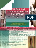 TEMA _MEDIDAS CAUTELARES _PRISÃO E LIBERDADE 2019 PARTE I