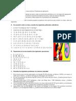 Polinomios artimeticos - recta numérica - problemas de aplicación