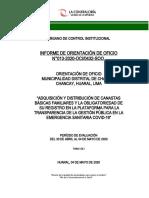 INFORME DE ORIENTACION DE OFICIO MD CHANCAY