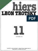 Cahiers Léon Trotsky, Numéro 11 (septembre 1982)