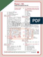 Exam Orientated Static GK Speed Test#5