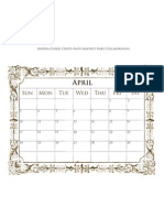 April 2011 Calendar By Andrea Currie & The Graphics Fairy
