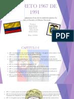 DECRETO 1967 DE 1991 terminado