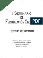 Resumen Del I Seminario de Fertilización Orgánica-SIMILAR