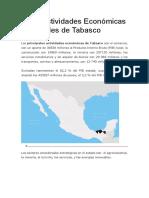 Las 5 Actividades Económicas Principales de Tabasco