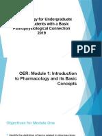 NUR115_1. Module One Pharmacology