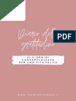 The Mindfulness_Il Diario Della Gratitudine_A4