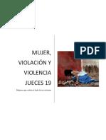 MUJER VIOLACIÓN Y VIOLENCIA JUECES 19, 1-21 Valle