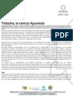 Tridosha, la ciencia Ayurveda Dr. Marc Halpern