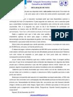 Declaração de VOTO Emprestimo 600