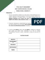 SESION 5 - PLANIFICACIÓN DE LA CALIDAD