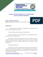 COLLADO. Conceptos sobre Nación y Región