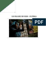 CASO MASACRES RIO NEGRO - GUATEMALA