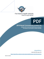 FNHA Covid 19 Guidance for Community Health Nurses Working in First Nations Communities in BC
