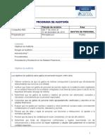 Programa de AuditorÝa para Gastos de Personal