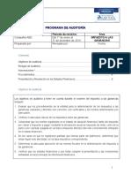 Programa de Auditoria para Impuestos a las Ganancias