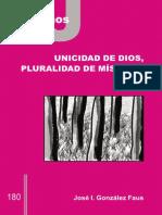Unicidad de Dios, pluralidad de místicas.jose ignacio gonzales faus.pdf