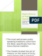 history of public speaking