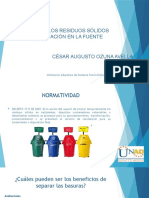 SELECCIÓN DE LOS RESIDUOS SÓLIDOS              SEPARACIÓN EN LA (1)