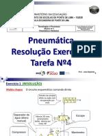 Pneumática (Resolução Exercícios Tarefa Nº4)