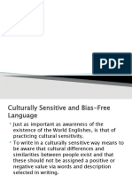 sensitive and bias free culture and language