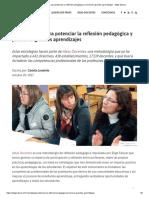 11 estrategias para potenciar la reflexión pedagógica y promover grandes aprendizajes - Elige Educar