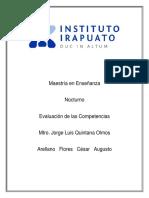 Aprendizaje - Proceso - Evaluación