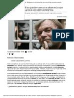 Jostein Gaarder_ «Esta pandemia es una advertencia que nos recuerda lo frágil que es nuestra existencia»
