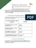 LOS PRINCIPIOS DE LA ACENTUACIÓN